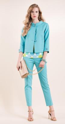 tunica setastamp.pant e giacca in piquet e braqcciale